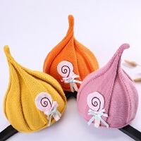韩版儿童秋冬季保暖针织尖尖帽女童可爱巫师帽婴儿女孩小宝宝帽子