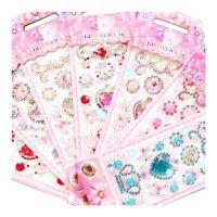 宝石贴纸儿童水晶钻石粘贴女孩装饰公主亚克力奖励宝宝立体贴贴画