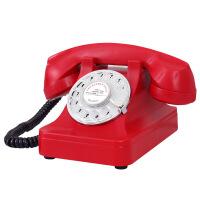 欧式复古电话机家用古旋转盘电话机创意古董拨号仿古电话机固话