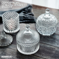 创意家居客厅欧式玻璃糖果罐装饰品玄关收纳盒储物罐子摆件糖缸
