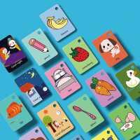 �和�英�Z卡片幼��⒚砷W卡 中英文�J知�R字卡片0-3-6�q撕不��卡片