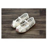 老北京儿童绣花鞋民族风传统布鞋宝宝鞋学生演出鞋子汉服鞋公主鞋