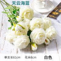 仿真牡丹花头绢花大朵假花仿真花家居客厅插花酒柜装饰品花瓶摆件