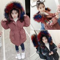 儿童棉衣2018新款韩版冬季中长款外套厚款洋气棉服女孩