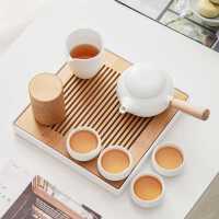 全季酒店茶具套�b同款�易家用客�d白瓷�劝�睾��s日式茶具小套�b