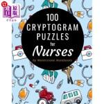 【中商海外直订】100 Cryptogram Puzzles for Nurses: Motivational, In