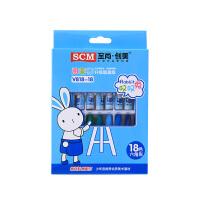SCM至尚・创美 V818-18色油画棒 18色盒装销售 颜色随机 儿童可爱叹叹兔蜡笔 当当自营