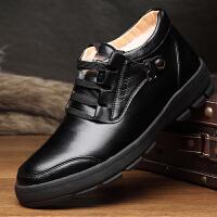 老头男士棉鞋男冬季保暖加绒羊毛加厚老人棉皮鞋中老年防滑爸爸鞋