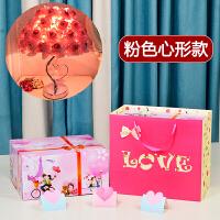 玫瑰花水晶台灯结婚礼物创意婚庆公主婚房长明装饰温馨卧室床头灯