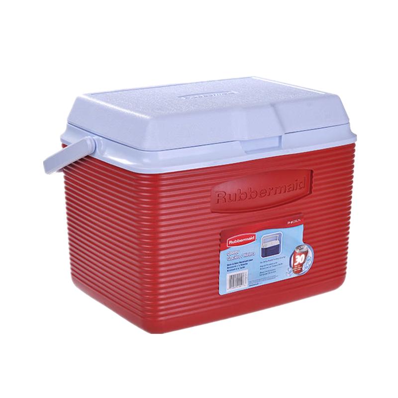 乐柏美Rubbermaid 进口保温保冰箱22L 红色