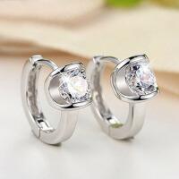 女士韩版甜美气质银饰925银耳环女天使之吻耳扣耳饰