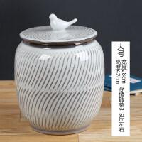 大�普洱手工茶�~罐茶�~桶�G茶普洱茶缸3斤存茶罐景德�陶瓷茶具