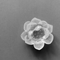 |琉璃莲花摆件 家居工艺品装饰品客厅茶空间