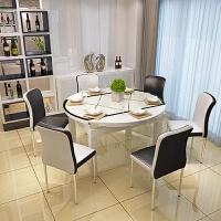 北欧实木餐桌椅组合客厅家具现代简约家用饭桌子小户型4人6人方桌 1.35米餐桌