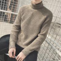 新款高领毛衣男韩版潮流个性帅气冬季加厚青年男士针织衫修身百搭