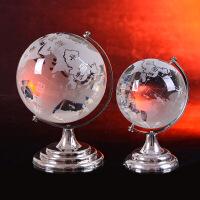 创意水晶玻璃地球仪摆件办公室书房装饰品家居电视柜客厅书桌摆设
