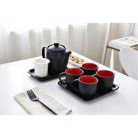 简约典雅陶瓷咖啡杯套装家用茶具带茶漏欧式下午茶杯具水具套装