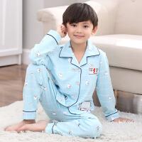 男童睡衣秋款长袖套装薄款春秋季小男孩宝宝中大童儿童家居服