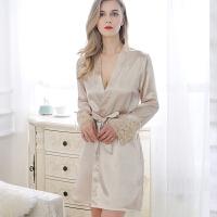 情趣内衣冬天冬季主播极度诱惑女人调情睡衣家居服浴袍蕾丝中长裙