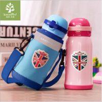 韩国KK树儿童保温杯带吸管两用小学生水杯便携宝宝水壶不锈钢防摔