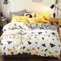 纯棉四件套床品1.8m床上用品宿舍被套床单三件套1.5米