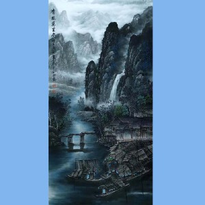 中国艺术学会会员艺宝在线特聘画家,越世阁画院院长易剑赋(清风万里春)51