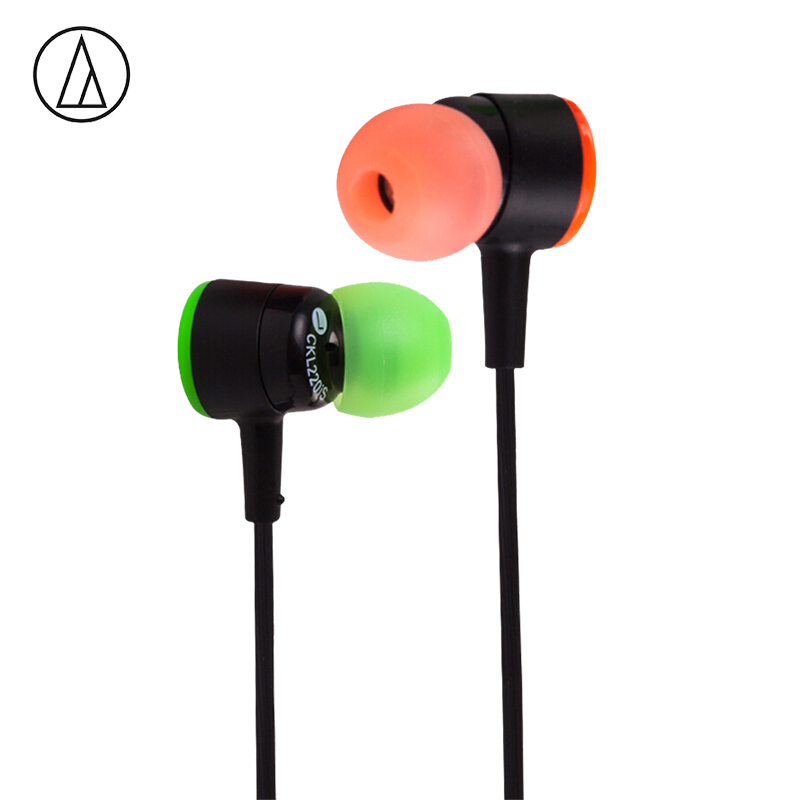Audio Technica/铁三角 CKL220IS 入耳式通用女生原装耳塞式耳机 苹果安卓线控兼容 接打电话