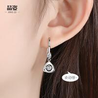 小众设计长款耳坠耳饰女士气质新款几何三角跳动银耳环