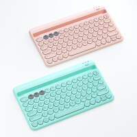 蓝牙键盘鼠标可连手机苹果平板华为M6笔记本办公打字马卡龙