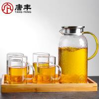 唐丰功夫花草茶壶套装玻璃下午茶泡茶花茶壶家用耐高温电热水壶