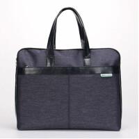 康百F6946手提包女士帆布袋购物袋拉链文件袋男士公文包办公用品 F6947竖式事务包