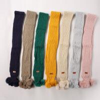 儿童围巾秋冬新款婴儿毛线围巾男童女童针织围脖软宝宝围巾