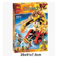 欢乐童年-兼容乐高式10295高气功传奇赤马敌狮的烈焰金狮战车益智拼装男孩玩具