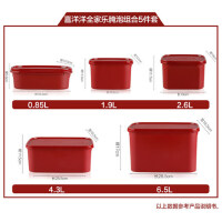 特百惠水果盒便当盒微波炉饭盒塑料长方形保鲜盒腌泡酵素密封盒子
