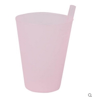 吸管杯果汁杯鲜果吸管杯随手杯塑料杯子宝宝饮水杯儿童饮料杯 350ML【颜色随机发货】