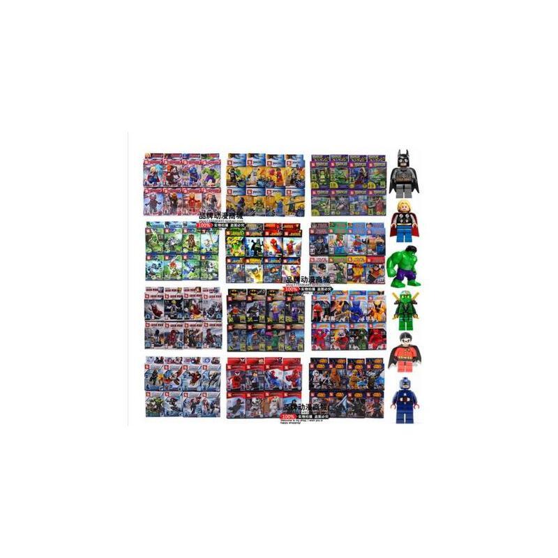 乐高式积木S牌人仔气功传奇幻影忍者钢铁侠蝙蝠侠忍者神龟我的世界迪士尼公主王者荣耀    8款/套 积木人仔模型玩偶