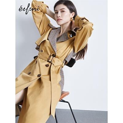 何穗同款伊芙丽外套设计感小众新款春装英式复古风衣女中长款