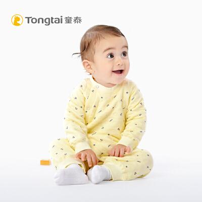 儿童衣服棉连体衣宝宝保暖内衣加厚婴儿爬服哈衣秋冬