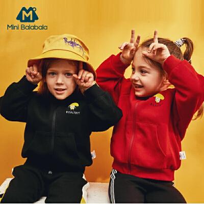 【1件6折】迷你巴拉巴拉儿童外套男童连帽便服2019年秋装新款女宝宝宽松上衣