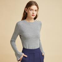 网易严选 女式经典喇叭袖圆领羊毛衫