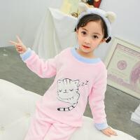 女童珊瑚绒睡衣秋冬季儿童法兰绒家居服套装厚款女宝宝公主小女孩