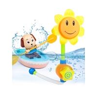 男女孩沙滩戏水玩具向日葵花洒电动喷水宝宝儿童玩水洗澡玩具