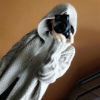 纱秋冬女毛衣连帽针织开衫长款大衣针织衫外套披肩长袖中长款