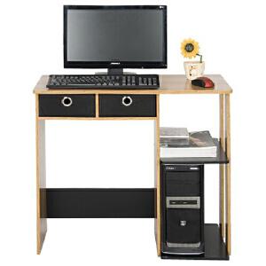 [当当自营]慧乐家 带抽家用电脑桌 胡桃木色黑色12101 台式写字桌子