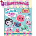 【中商海外直订】Squeezamals: Adorable Sticker and Activity Book: Mo