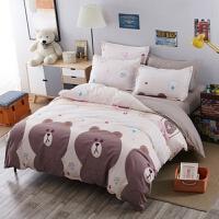 卡通四件套卡通儿童床单被套学生宿舍床上三件套皮卡丘