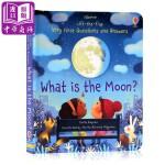 【中商原版】尤斯伯恩翻页问答 月亮是什么 英文原版 What is the Moon? 纸板书 儿童百科绘本