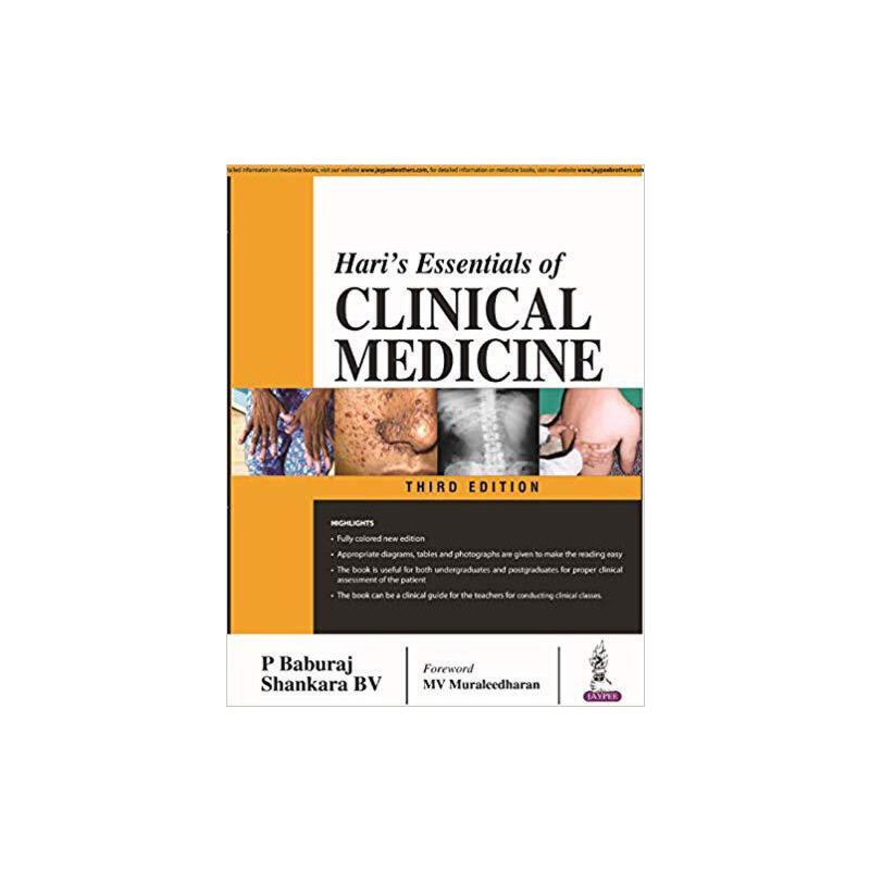 【预订】Hari's Essentials of Clinical Medicine 9789352705344 美国库房发货,通常付款后3-5周到货!