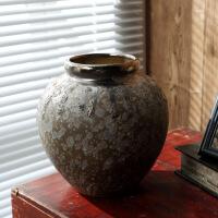 景德镇手工复古陶瓷花瓶摆件批发铁锈釉工艺品花器家居装饰品
