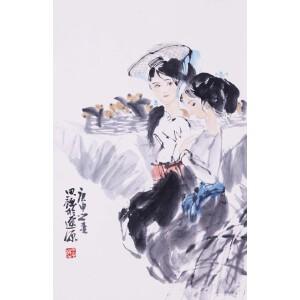 中国著名女画家 周思聪《枇杷熟了》